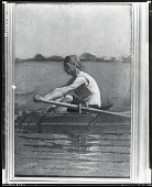 view John Biglin in a Single Scull [painting] / (photographed by Peter A. Juley & Son) digital asset number 1
