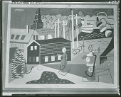view Landscape with Garage Lights [painting] / (photographed by Peter A. Juley & Son) digital asset number 1
