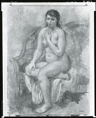 view Seated Nude [painting] (photographed by Peter A. Juley & Son) digital asset number 1