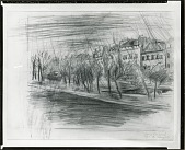 view Seine, Paris Drawing [drawing] / (photographed by Peter A. Juley & Son) digital asset number 1