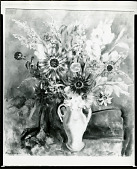 view Bouquet, Bronze Sunflowers [painting] / (photographed by Peter A. Juley & Son) digital asset number 1