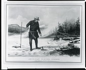 view American Winter Sports: Trout Fishing on Chateaugay Lake [lithograph] / (photographed by Peter A. Juley & Son) digital asset number 1