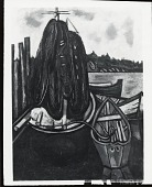 view (Lobster Nets and Boat) [painting] / (photographed by Peter A. Juley & Son) digital asset number 1