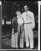 view Eugene Speicher with unidentified woman [photograph] / (photographed by Peter A. Juley & Son) digital asset number 1