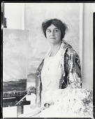 view Rachel Hartley in her studio [photograph] / (photographed by Peter A. Juley & Son) digital asset number 1