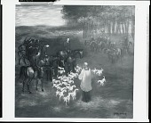 view Blessing the Hounds [painting] / (photographed by Peter A. Juley & Son) digital asset number 1
