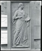 view Study for Doors of American Academy of Arts and Letters, North Gallery (detail) [sculpture] / (photographed by Peter A. Juley & Son) digital asset number 1