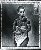 view Girl with Baby [painting] / (photographed by Peter A. Juley & Son) digital asset number 1