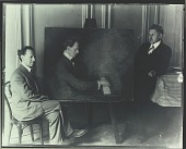 view Eric Maunsbach in his studio with Vladimir Horowitz [photograph] / (photographed by Peter A. Juley & Son) digital asset number 1
