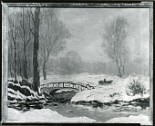 view Bridge in Winter [painting] / (photographed by Peter A. Juley & Son) digital asset number 1