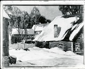 view House in the Snow [painting] / (photographed by Peter A. Juley & Son) digital asset number 1