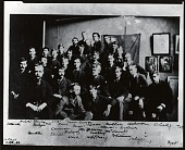 view Thomas Wilmer Dewing with his class at the Art Students League, New York [photograph] / (photographed by Peter A. Juley & Son) digital asset number 1