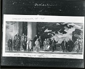 view Sketch for the Declaration Mural [drawing] / (photographed by Peter A. Juley & Son) digital asset number 1