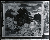 view Study for New England Landscape Mural for the Phillips Academy, Andover, Massachusetts [drawing] / (photographed by Peter A. Juley & Son) digital asset number 1