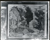 view Study for New England Landscape Mural at the Phillips Academy, Andover, Massachusetts [drawing] / (photographed by Peter A. Juley & Son) digital asset number 1