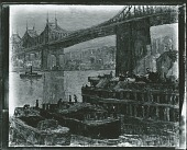 view Queensborough Bridge- East River Scene [painting] / (photographed by Peter A. Juley & Son) digital asset number 1