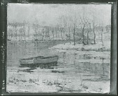 view No Title Given: Winter Landscape with Boats [painting] / (photographed by Peter A. Juley & Son) digital asset number 1