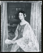 view Woman with Lace Shawl and Fan [painting] / (photographed by Peter A. Juley & Son) digital asset number 1