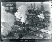 view New York Freightyards [painting] / (photographed by Peter A. Juley & Son) digital asset number 1