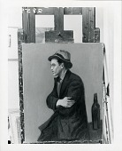 view Portrait of Jack Levine [painting] / (photographed by Peter A. Juley & Son) digital asset number 1