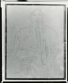view Chaim Soutine in a Cafe [drawing] / (photographed by Peter A. Juley & Son) digital asset number 1