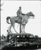 view Solon Borglum and assistant with model for General John B. Gordon monument [photograph] / (photographed by Peter A. Juley & Son) digital asset number 1