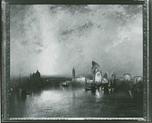 view No Title Given: Venice (?) Canal Scene [painting] / (photographed by Peter A. Juley & Son) digital asset number 1