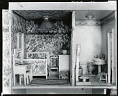 view Stettheimer Dollhouse: The Chintz Bedroom and The Green Bathroom, [decorative arts] / (photographed by Peter A. Juley & Son) digital asset number 1