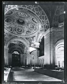 view Cunard Building interior with mural, New York City [photograph] / (photographed by Peter A. Juley & Son) digital asset number 1
