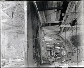 view Mural in Studio [photograph] / (photographed by Peter A. Juley & Son) digital asset number 1