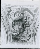 view Cunard Building Mural: John Cabot's Boat [fresco] / (photographed by Peter A. Juley & Son) digital asset number 1