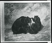view Black Bears [painting] / (photographed by Peter A. Juley & Son) digital asset number 1