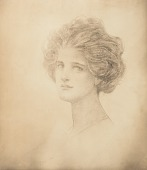 view No Title Given: Head of a Woman, [photomechanical print] digital asset number 1