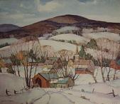 view Village at Wintertime, [photomechanical print] digital asset number 1