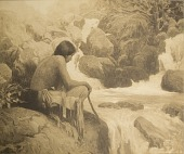 view The Indian's Muse, [photomechanical print] digital asset number 1