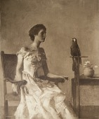 view Lady with a Macaw, [photomechanical print] digital asset number 1