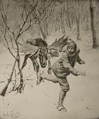 view Moose Hunting [photomechanical print] digital asset number 1