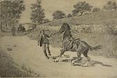 view No Title Given: Man Retrieving a Runaway Horse, [photomechanical print] digital asset number 1