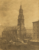 view Old Dutch Church, Fulton and William Streets, New York [photomechanical print] digital asset number 1