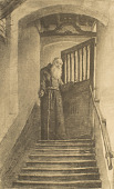 view Monk Coming Down Stairs [photomechanical print] digital asset number 1