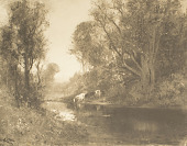 view Landscape with Cows by a Stream [photomechanical print] digital asset number 1