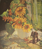 view Sunflowers [photomechanical print] digital asset number 1
