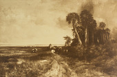 view Bringing Home the Cattle, Coast of Florida [photomechanical print] digital asset number 1