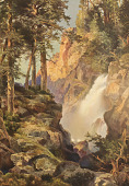 view Falls at Toltec Gorge in the Rockies [photomechanical print] digital asset number 1