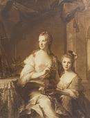 view La Comtesse de St. Pierre et sa fille [photomechanical print] digital asset number 1