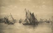 view Santa Maria de la Salute from the Lagunes, Venice [photomechanical print] digital asset number 1