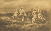 view Battle Scene - Arabs Making a Detour [photomechanical print] digital asset number 1