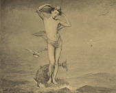 view Mythological Character Rising from the Sea [photomechanical print] digital asset number 1