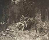 view Woodsmen Cutting a Tree [photomechanical print] digital asset number 1