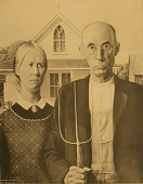 view American Gothic [photomechanical print] digital asset number 1
